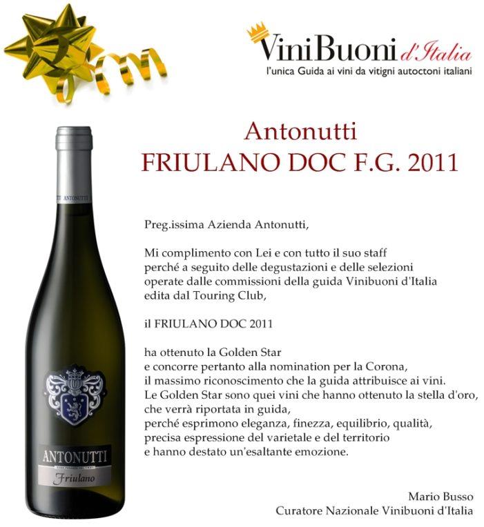 GOLDEN STAR al vino Friulano D.O.C. Friuli Grave di Antonutti