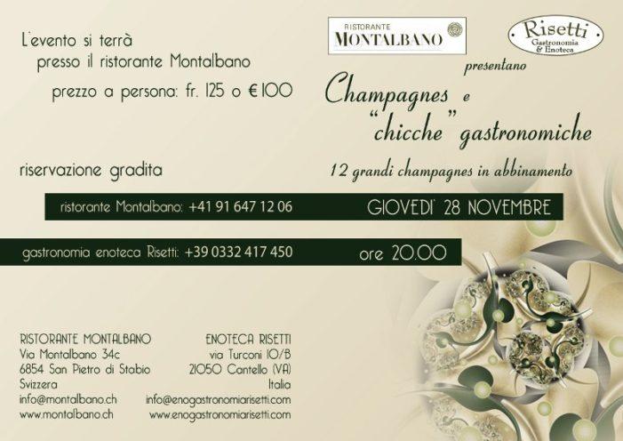 """Champagnes e """"chicche"""" gastronomiche – Giovedì 28 novembre"""