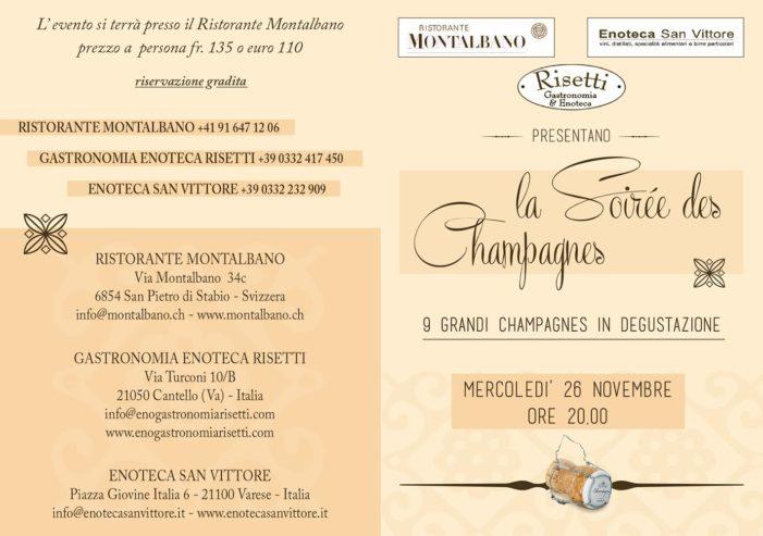 La Soirée des Champagnes – Mercoledì 26 novembre