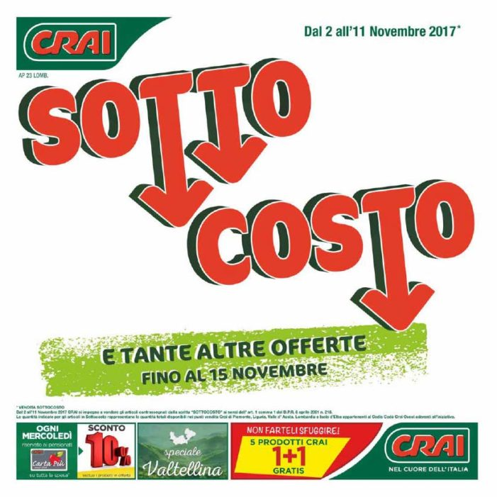 Volantino valido dal 2 al 11 novembre